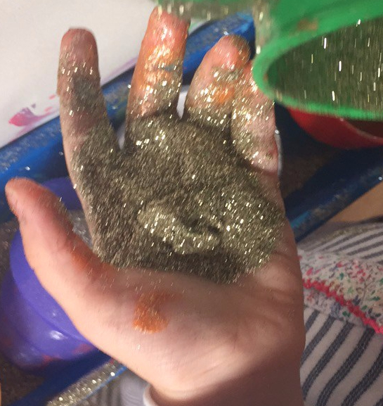 sensory play messy play toddler activity